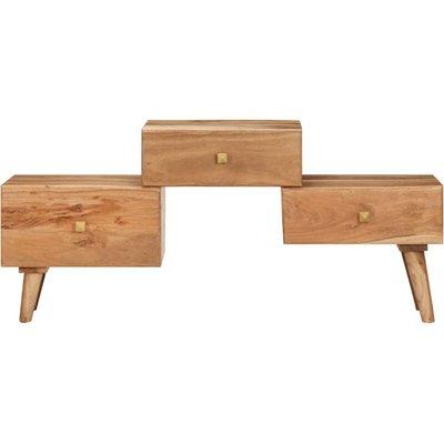 vidaXL TV Cabinet 108x30x49 cm Solid Acacia Wood - Brown
