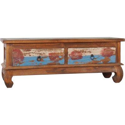 vidaXL TV Cabinet 110x35x40 cm Reclaimed Teak Wood - Brown