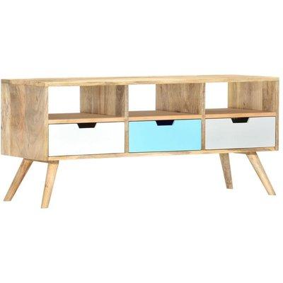 TV Cabinet 110x35x48 cm Solid Mango Wood