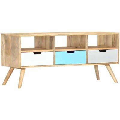 vidaXL TV Cabinet 110x35x48 cm Solid Mango Wood - Brown