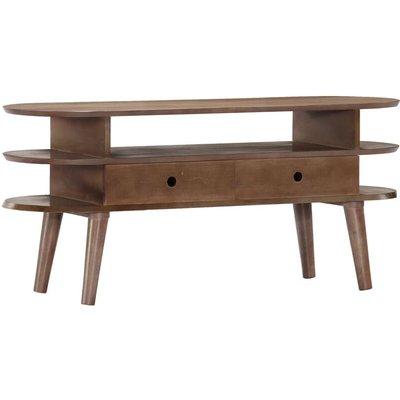 TV Cabinet 110x35x50 cm Solid Acacia Wood - VIDAXL