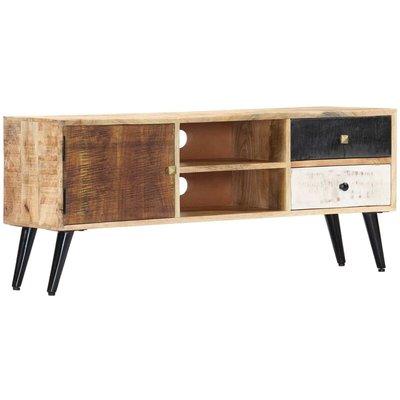 vidaXL TV Cabinet 115x30x47 cm Solid Mango Wood - Brown