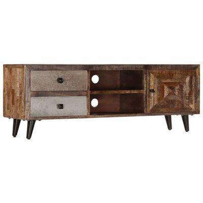TV Cabinet 118x30x40 cm Solid Mango Wood - VIDAXL