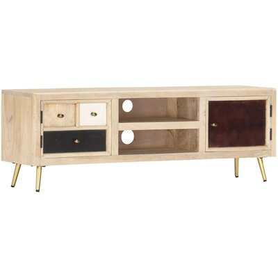 vidaXL TV Cabinet 120x30x40 cm Solid Mango Wood - Brown