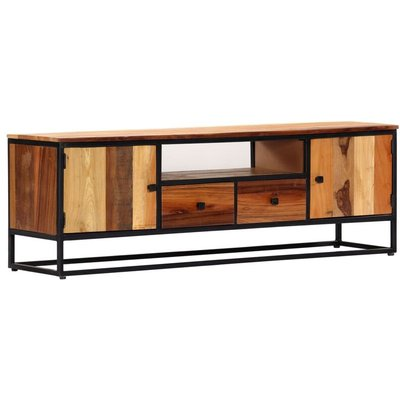 Vidaxl - TV Cabinet 120x30x40 cm Solid Reclaimed Wood and Steel