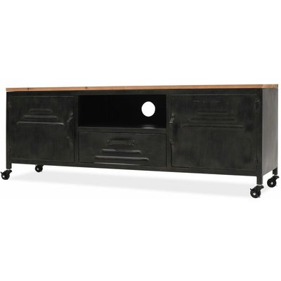 TV Cabinet 120x30x43 cm Black - Black