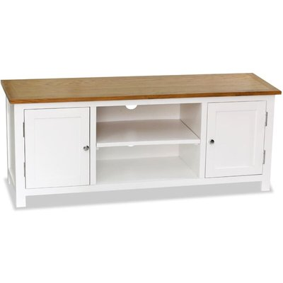 Youthup - TV Cabinet 120x35x48 cm Solid Oak Wood
