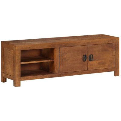 vidaXL TV Cabinet 120x40x30 cm Solid Mango Wood - Brown
