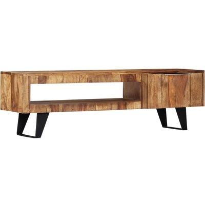 TV Cabinet 140x30x40 cm Solid Sheesham Wood - VIDAXL