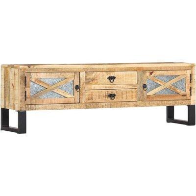 TV Cabinet 140x30x45 cm Solid Mango Wood - VIDAXL