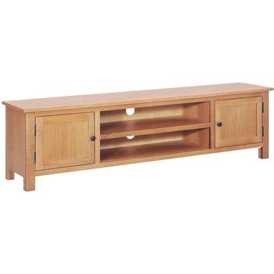 Zqyrlar - TV Cabinet 165x36x46 cm Solid Oak Wood - Brown