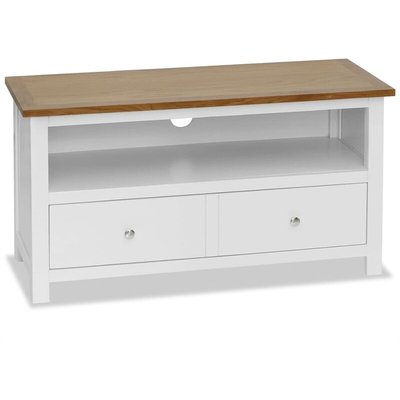 Youthup - TV Cabinet 90x35x48 cm Solid Oak Wood