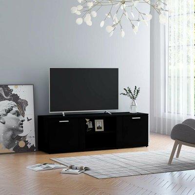 TV Cabinet Black 120x34x37 cm Chipboard