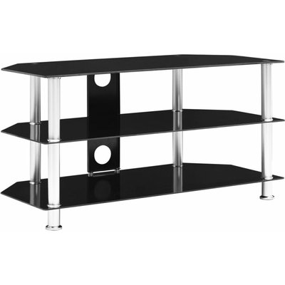 TV Cabinet Black 96x46x50 cm Tempered Glass