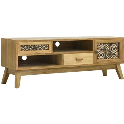 Vidaxl - TV Cabinet Carving Brown 120x30x42 cm Wood