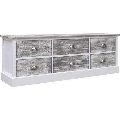 vidaXL Hall Bench 115x30x40 cm Wood Grey - Grey