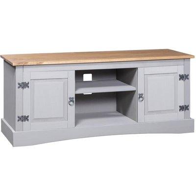 TV Cabinet Mexican Pine Corona Range Grey 120x40x52 cm - VIDAXL