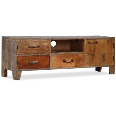 vidaXL TV Cabinet Solid Wood Vintage 118x30x40 cm - Brown