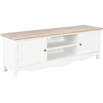 TV Cabinet White 120x30x40 cm Wood - YOUTHUP