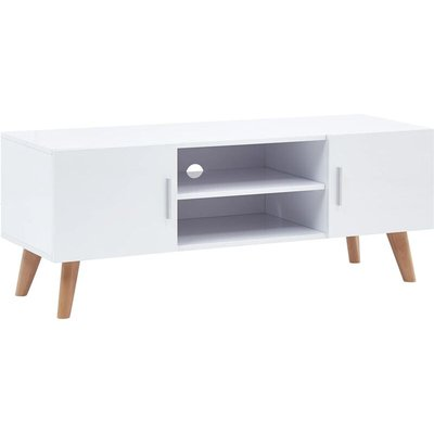 vidaXL TV Cabinet 120x40x46 cm MDF White - White
