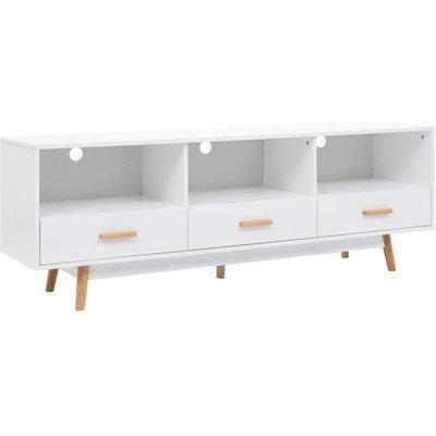 vidaXL TV Cabinet White 160x40x55 cm MDF - White