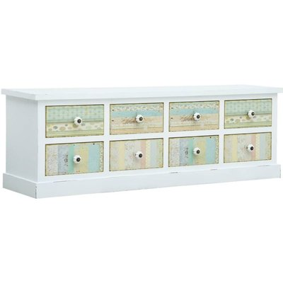 TV Cabinet with Drawers White 120x30x40 cm MDF - VIDAXL