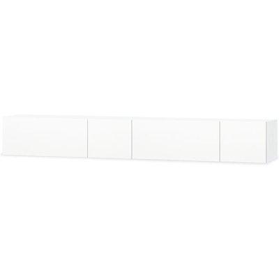 vidaXL TV Cabinets 2 pcs Chipboard 120x40x34 cm High Gloss White - White