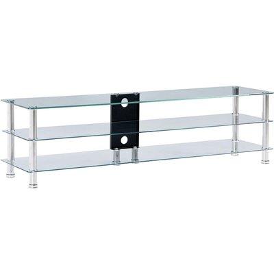 vidaXL TV Stand Tempered Glass Transparent 150x40x40 cm - Transparent