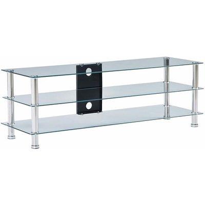 TV Stand Transparent 120x40x40 cm Tempered Glass - Transparent