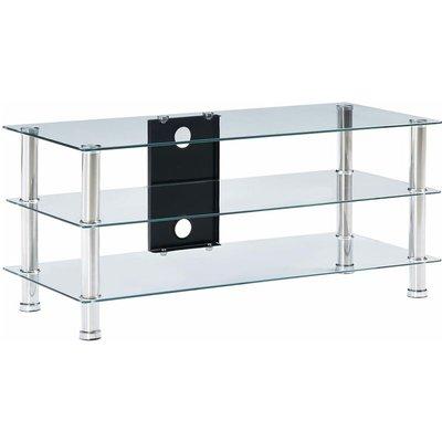 TV Stand Transparent 90x40x40 cm Tempered Glass - Transparent