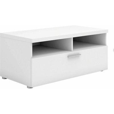 Tv Unit 1 Drawer 2 Shelves In White