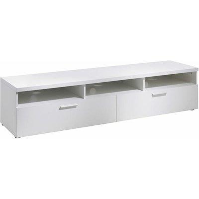 TV Unit 2 Drawers 3 Shelves in White