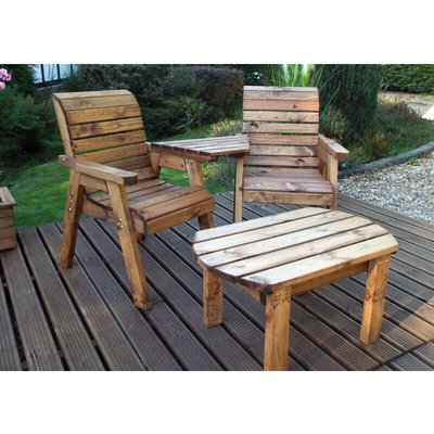 Twin Companion Set Dining - Angled. Quality Wooden Garden Furniture, fully assembled - CHARLES TAYLOR