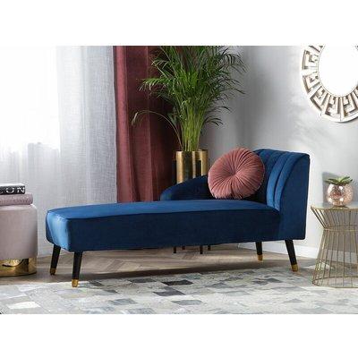 Velvet Chaise Lounge Cobalt Blue ALSVAG - BELIANI