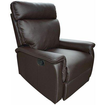 Venus PU Leather Recliner Chair in Dark Brown or Black - Dark Brown