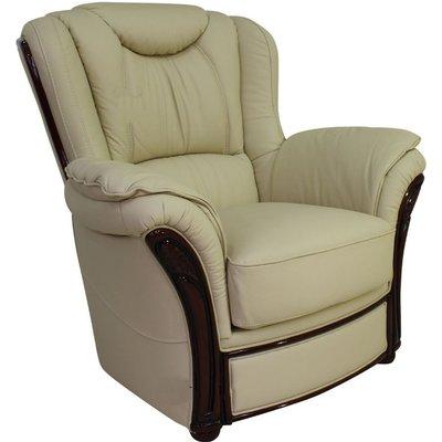 Designer Sofas 4 U - Verona Genuine Italian Sofa Armchair Cream Leather