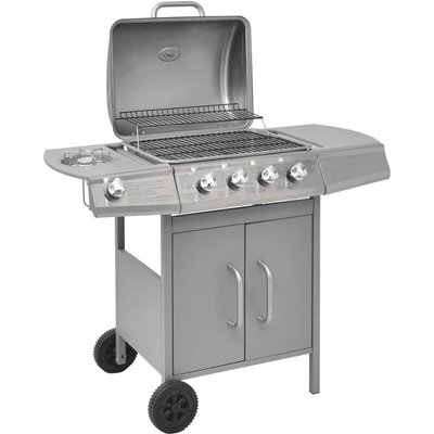 Vidaxl - Gas Barbecue Grill 4+1 Cooking Zone Silver