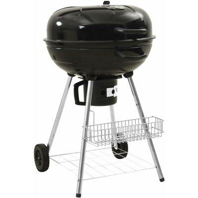 Kettle Charcoal BBQ Grill 73x58x96 cm Steel - Black - Vidaxl