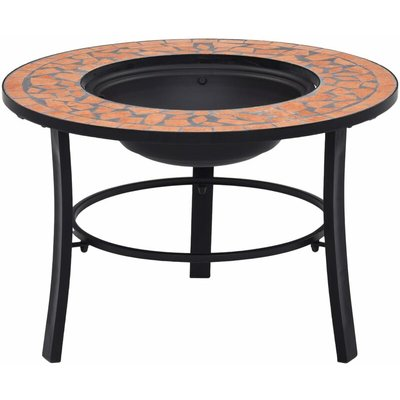 vidaXl Mosaic Fire Pit Terracotta 68cm Ceramic - Brown