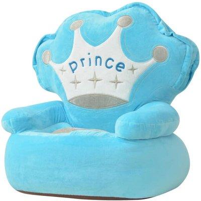 Plush Children's Chair Prince Blue - VIDAXL