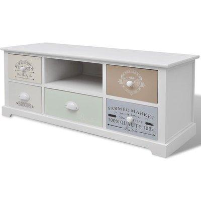 French TV Cabinet Wood - VIDAXL