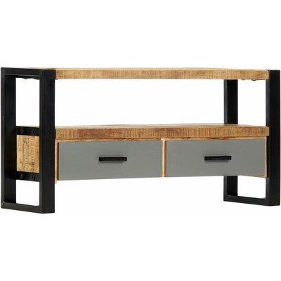 vidaXL TV Cabinet Solid Mango Wood 100x30x50 cm - Brown