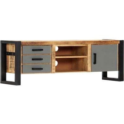 TV Cabinet Solid Mango Wood 120x30x40 cm - VIDAXL