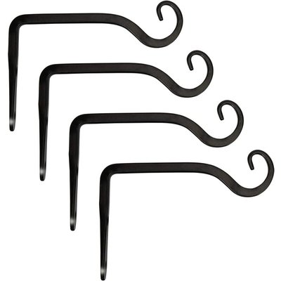 Wall Hook Hanging Plant Bracket, Decorative Straight Plant Hanger for Bird Feeders, Planters, Lanterns, Wind Chimes, Indoor Outdoor 4 Pack, 6