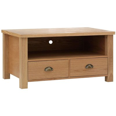 Westbury Media Unit,2 Drawer,MDF/Oak Veneer - BIG LIVING