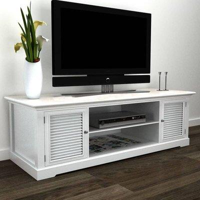 Zqyrlar - White Wooden TV Stand - White