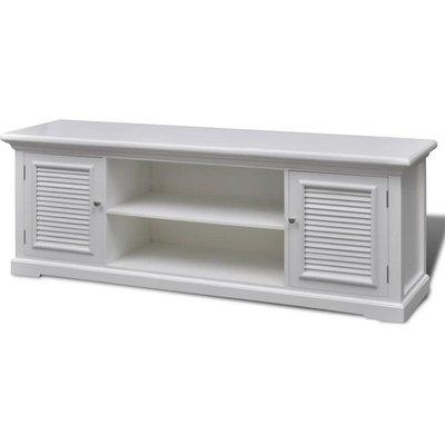 Vidaxl - White Wooden TV Stand - White