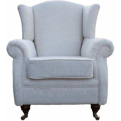 Designer Sofas 4 U - Wing Chair Fireside High Back Armchair Tango Crush Ivory