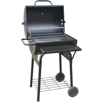 Wood and charcoal barbecue made in italy bbq in painted sheet metal with stainless steel grill and brazier - FRANKYSTAR