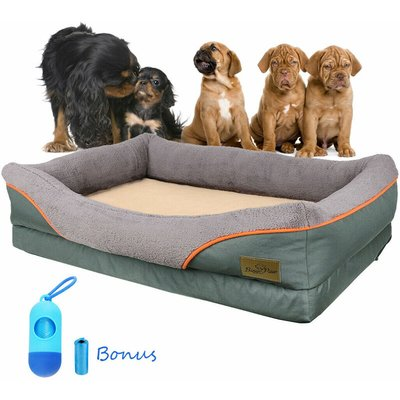 XL Extra Large Dog Bed Soft Pet Couch Sofa Cushion Warm Basket Pillow Waterproof - BINGO PAW